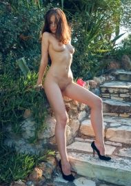 Outdoors Nasty Bruenette Jenna By Metart #12
