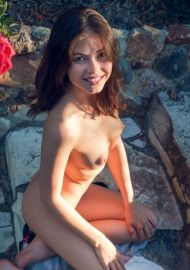 Outdoors Nasty Bruenette Jenna By Metart #6