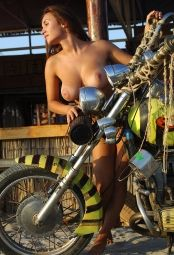 Sasha D. from Metart posing next to bike #2