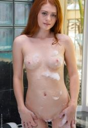 Alice Green from WoW Girls is taking shower #5